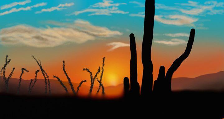 desert sunset - Brian's art