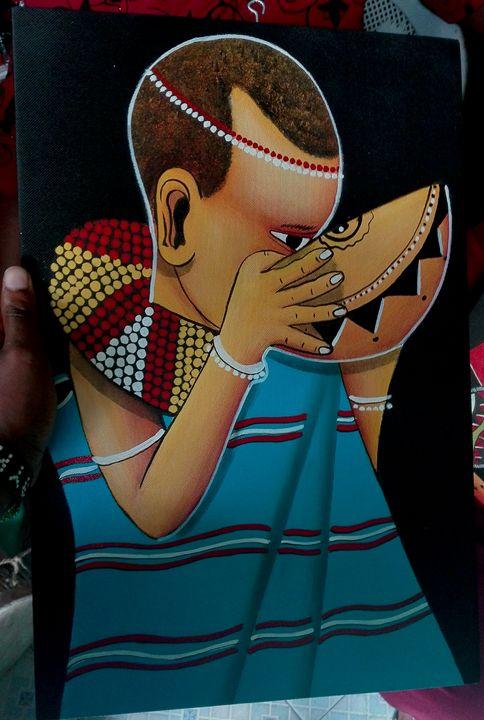 Boy and a calabash - KARIS ARTS AND CRAFT