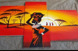 Sunset on African Woman