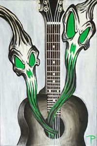 Dark Guitar - Paintings by Ty Pollock