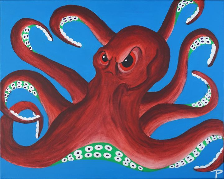 Evil octopus - Paintings by Ty Pollock
