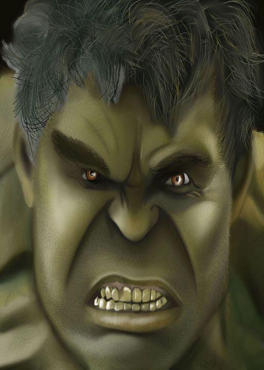 hulk - digital art by shannon green
