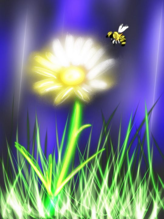 light flower - digital art by shannon green