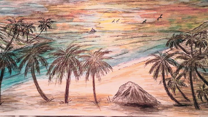 SUNSET IN PARADISE - EcLectic Thunder of Catherine's Artistry