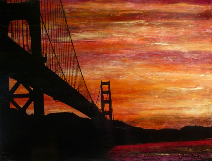 Sunset Beneath the Bridge - FroyleArt