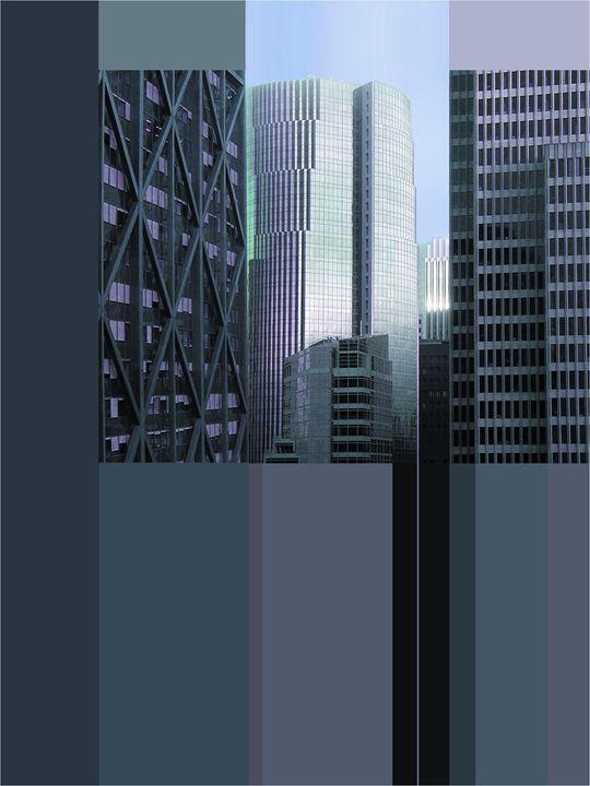 Financial District Signed Poster - Richard Nodine