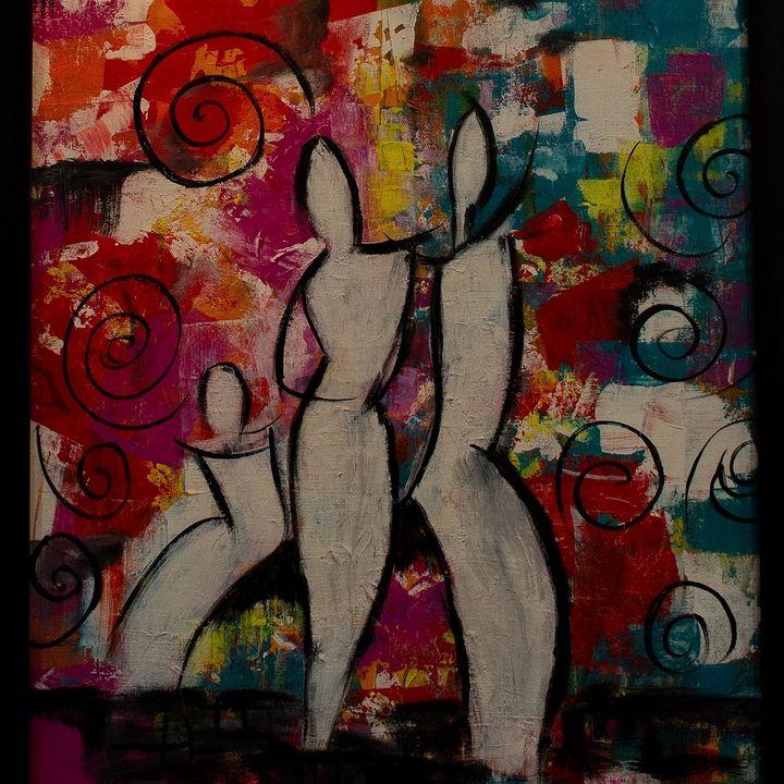 Dance in warmth - Stroke art