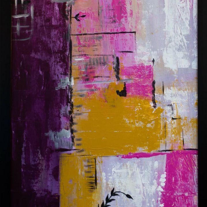 Stroke art. Abstract art work on can - Stroke art