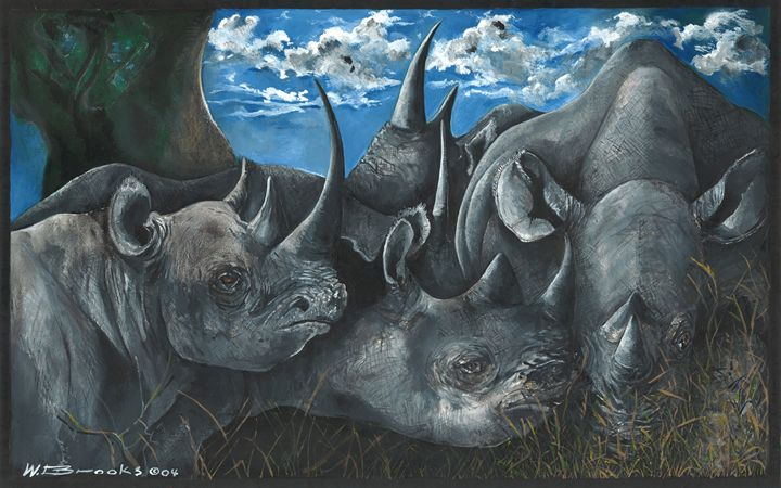 Black Rhinos - Wendell Brooks
