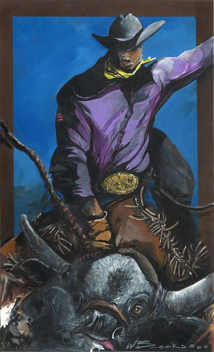 Tuff Ride,  Black Bull Rider - Wendell Brooks
