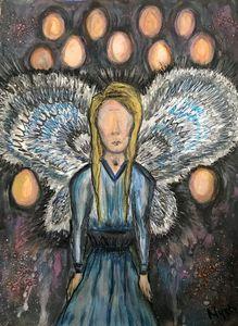 fallen angel watercolour painting