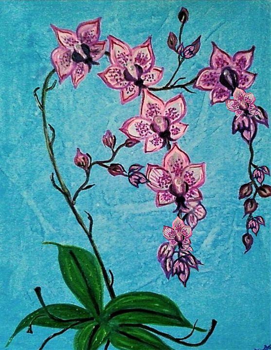 moth orchid fine art by mysticlady - mysticladyart
