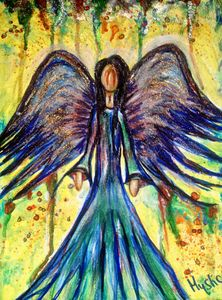 observing angel painting