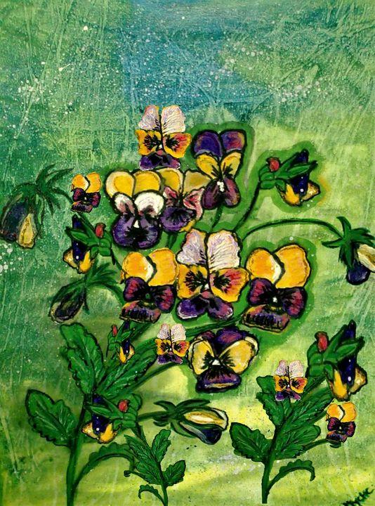 pansy floral art - mysticladyart
