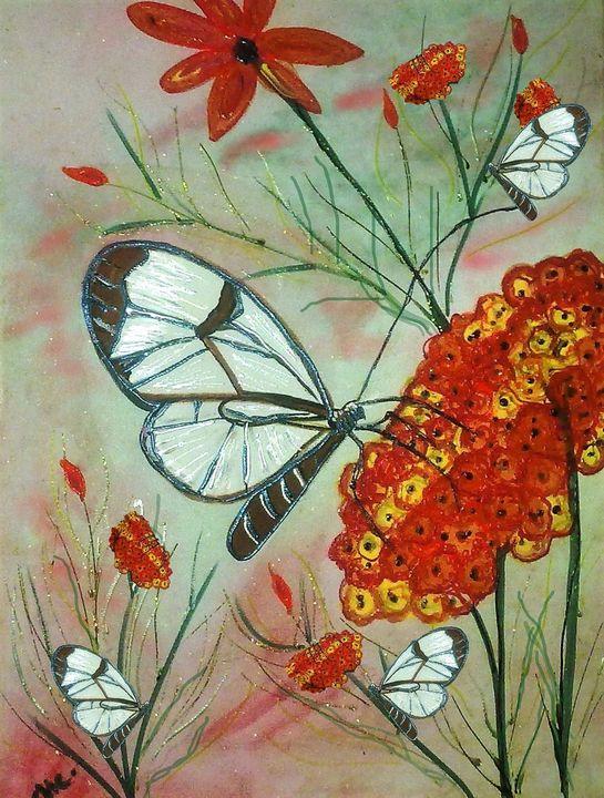 glass winged butterfly - mysticladyart