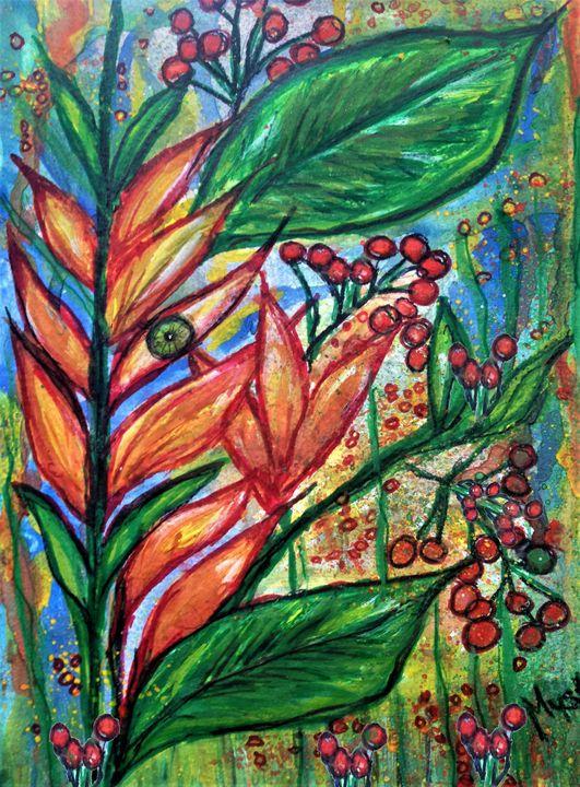 birds of paradise plants - mysticladyart