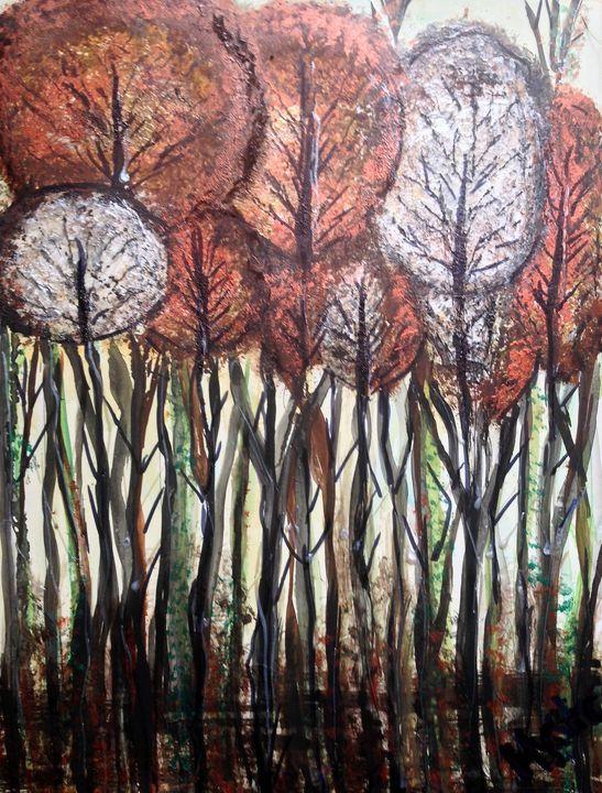 autumn metallic abstract - mysticladyart