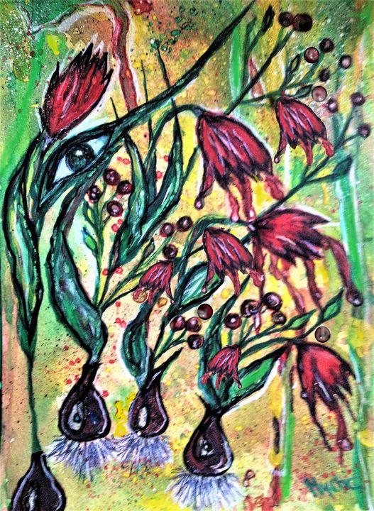 vintage faded 80s tulips - mysticladyart