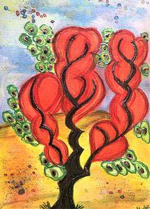 orange art deco tree 2020 mysticlady
