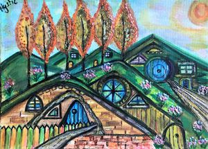 hobbits villages by mysticladyart