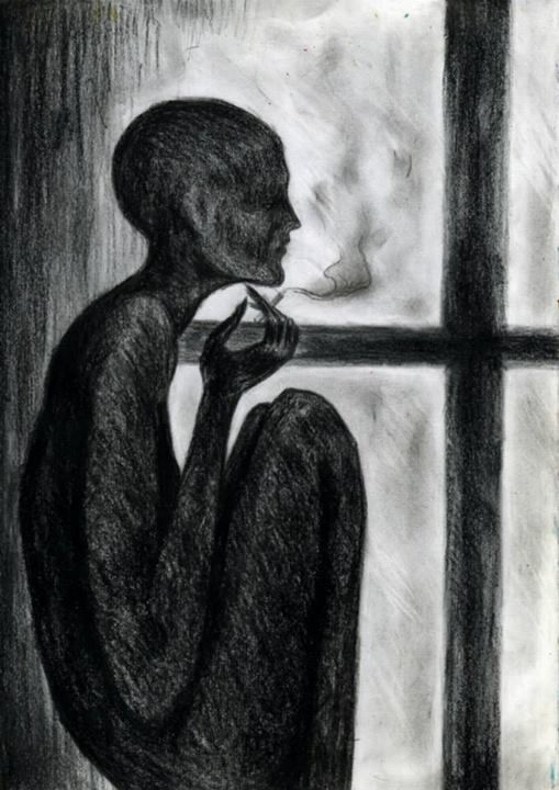 Waiting for coffee - Tamar Meskhi Arts