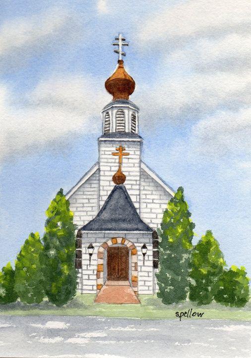 Orthodox Church, Philipsburg, PA - WatercolorsbySandy