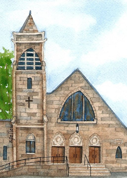 Presbyterian Church - WatercolorsbySandy