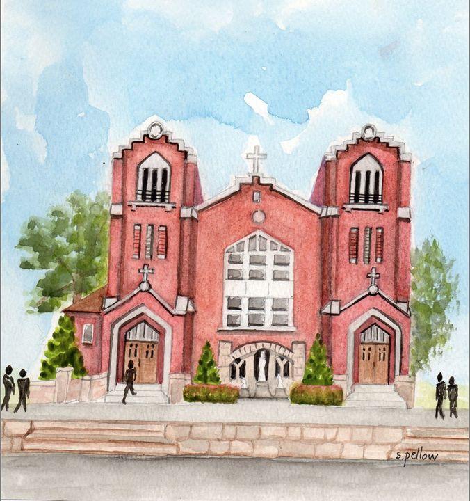 Catholic Church - WatercolorsbySandy