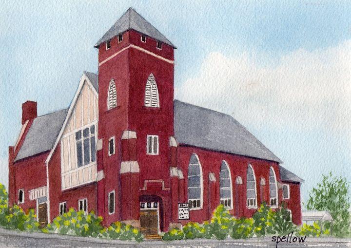 Baptist Church - WatercolorsbySandy