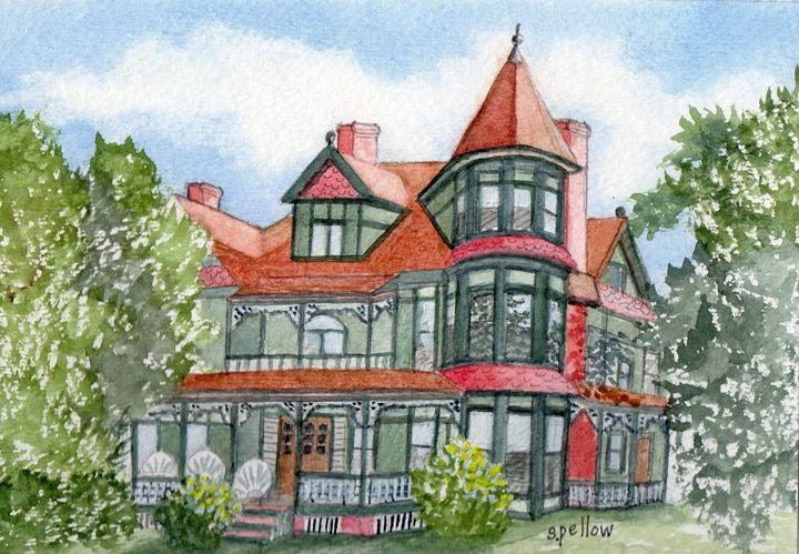 Victorian House - WatercolorsbySandy