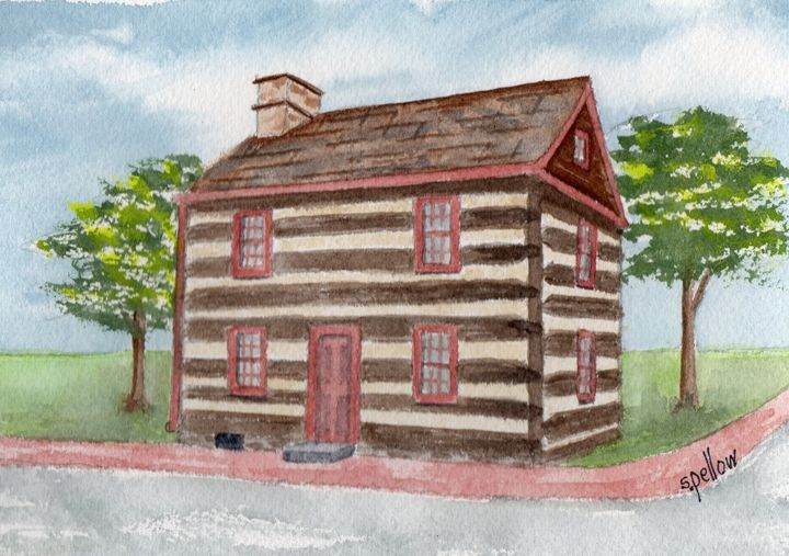 Simler House - WatercolorsbySandy