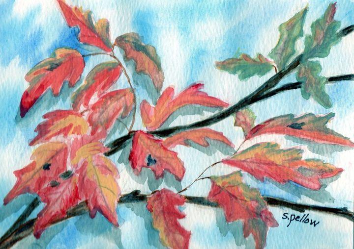 Leaves Changing - WatercolorsbySandy