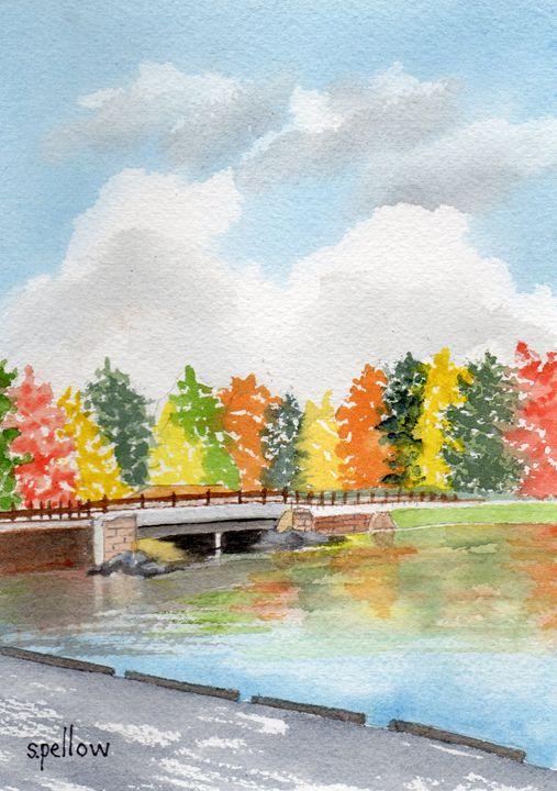 Black Moshannon in the Fall - WatercolorsbySandy