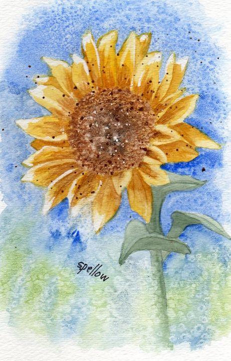 Sunflower - WatercolorsbySandy