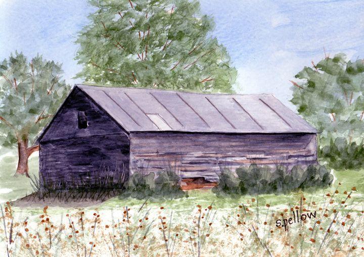 Local Barn, Pennsylvania - WatercolorsbySandy