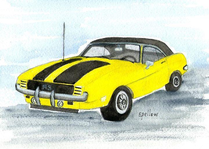 69 Camaro - WatercolorsbySandy