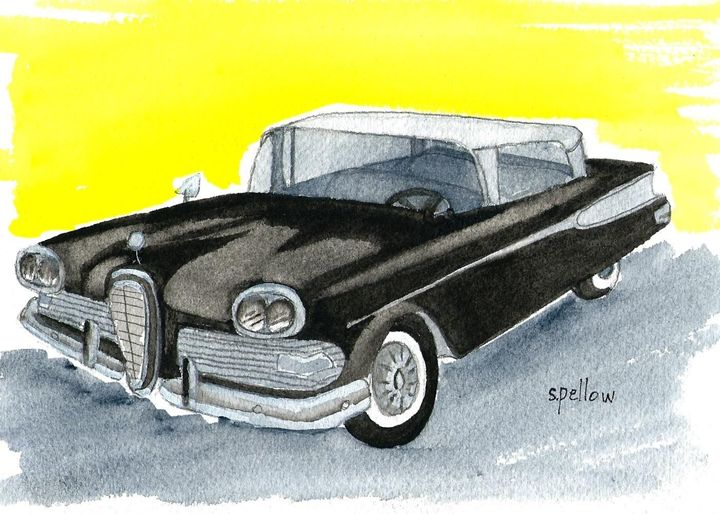 58 Edsel - WatercolorsbySandy