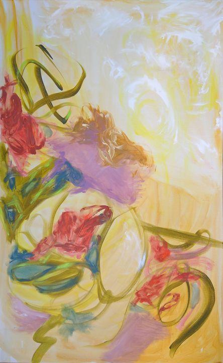 Ribbon - Jennifer Bakker Abstract Expressionist Paintings