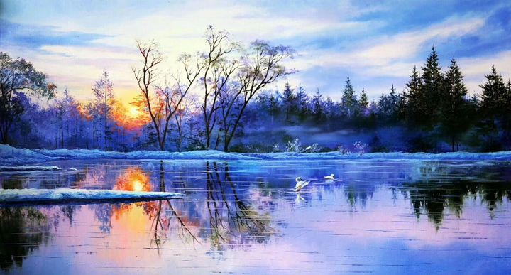 Winter Landscape Painting - Perfect Art