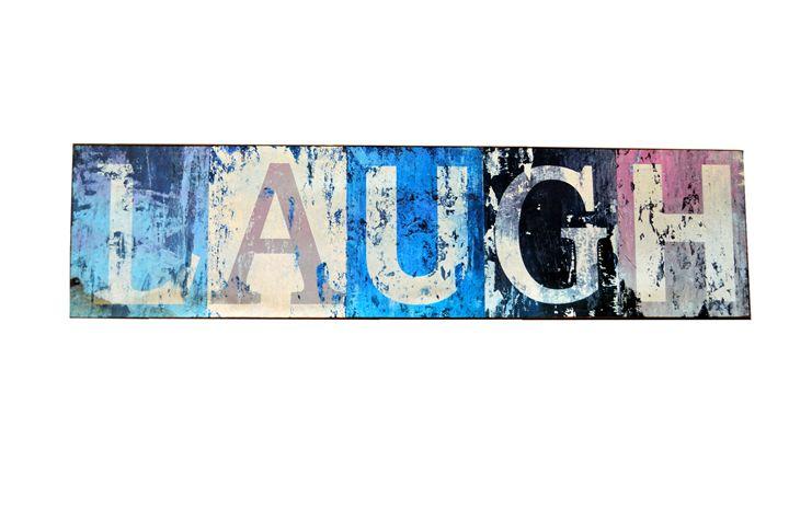 a laugh sign - SHOPPINGUSA
