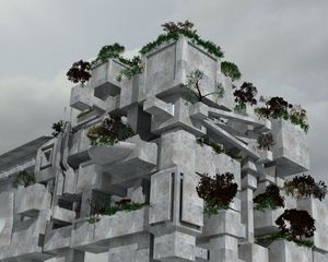 Fantasy Concrete Fortress Garden - Matthew James Johnson