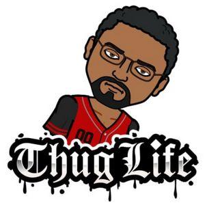 """Blkmanover50 """"Thug Life"""" Blk"""