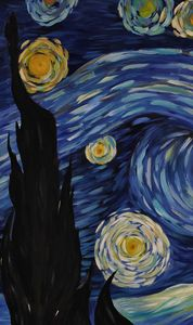 Starry Night Themed Painting 2