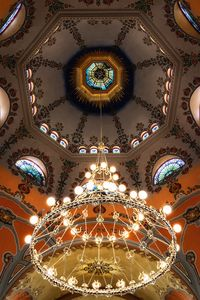 Chandelier in the Subotica synagogue