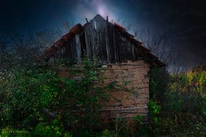 An old abandoned hut