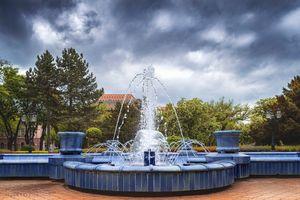 Blue fountain