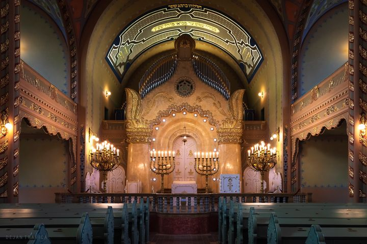 View of the bimah Inside the synagog - Dejan Travica