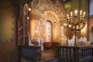 Synagogue bimah side view