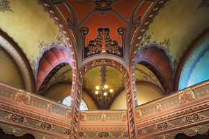 The vaults of the Subotica synagogue