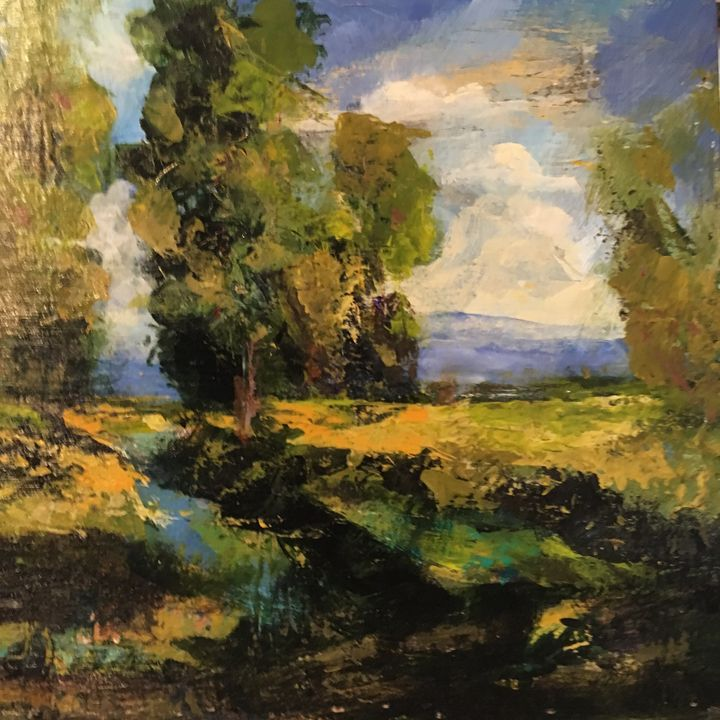 original painting Acrylic on wood - Judy Bird